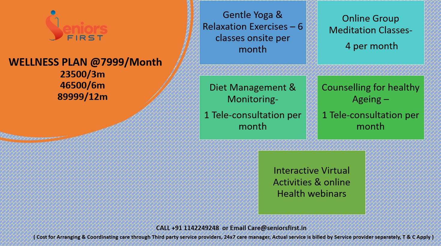 Wellness plan for Active Ageing