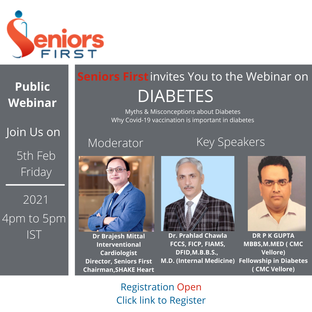 Diabetes : Myth and Misconceptions,  5th Feb, 2021